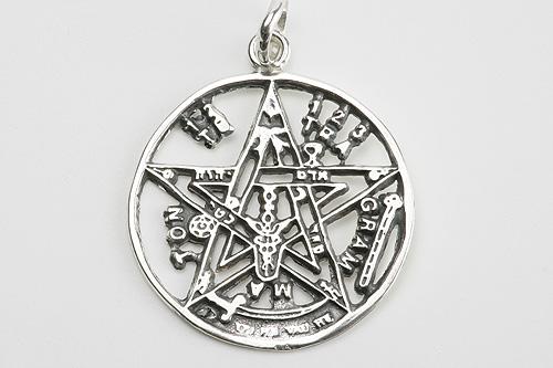 Colgante Tetragramatón labrado 2,5cm