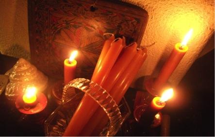 Velas de miel conjunto de 3 velas a cova da meiga - Velas de miel ...