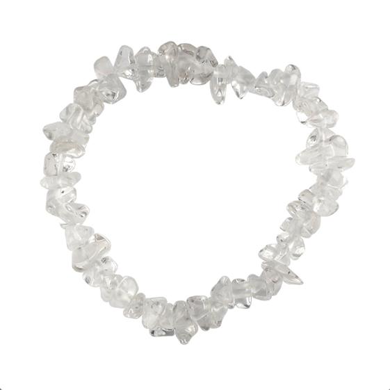 Pulseras Minerales de Cuarzo Blanco