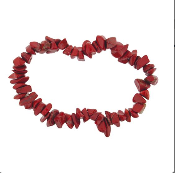 Pulsera minerales Jaspe Rojo